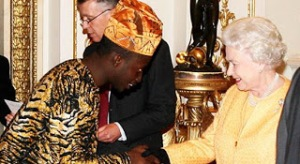Dayo Israel and Queen Elizabeth