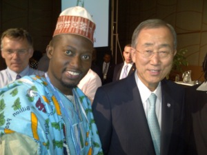 Dayo Israel and UN Secretary General Ban Ki Moon